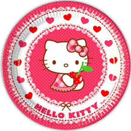 8 piatti 23 cm Hello Kitty