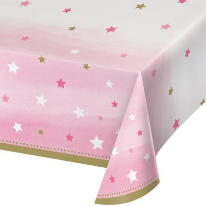 Tovaglia little star rosa