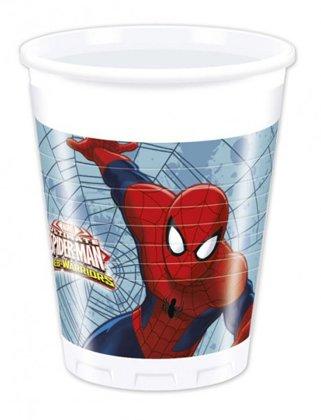 8 becher web warriors Spiderman