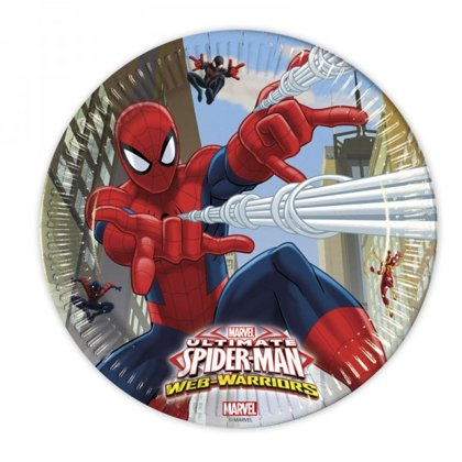 8 piatti 23 cm Spiderman web warriors