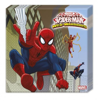 20 tovaglioli web warriors Spiderman